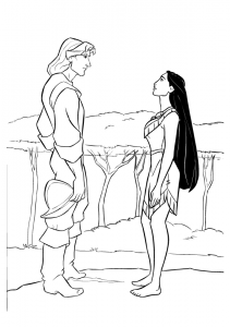 Pocahontas-Meets-The-Prince-Coloring-Printables