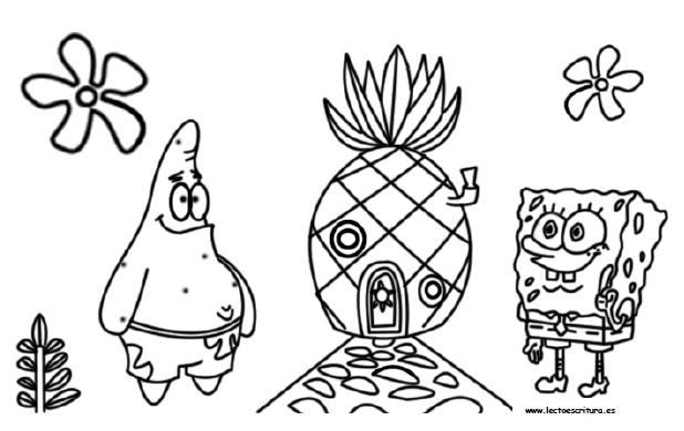 Dibujos Para Pintar Bob Esponja Dibujos Para Pintar