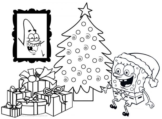 dibujos para colorear bob esponja navidad 3 675×494 – Club Peque