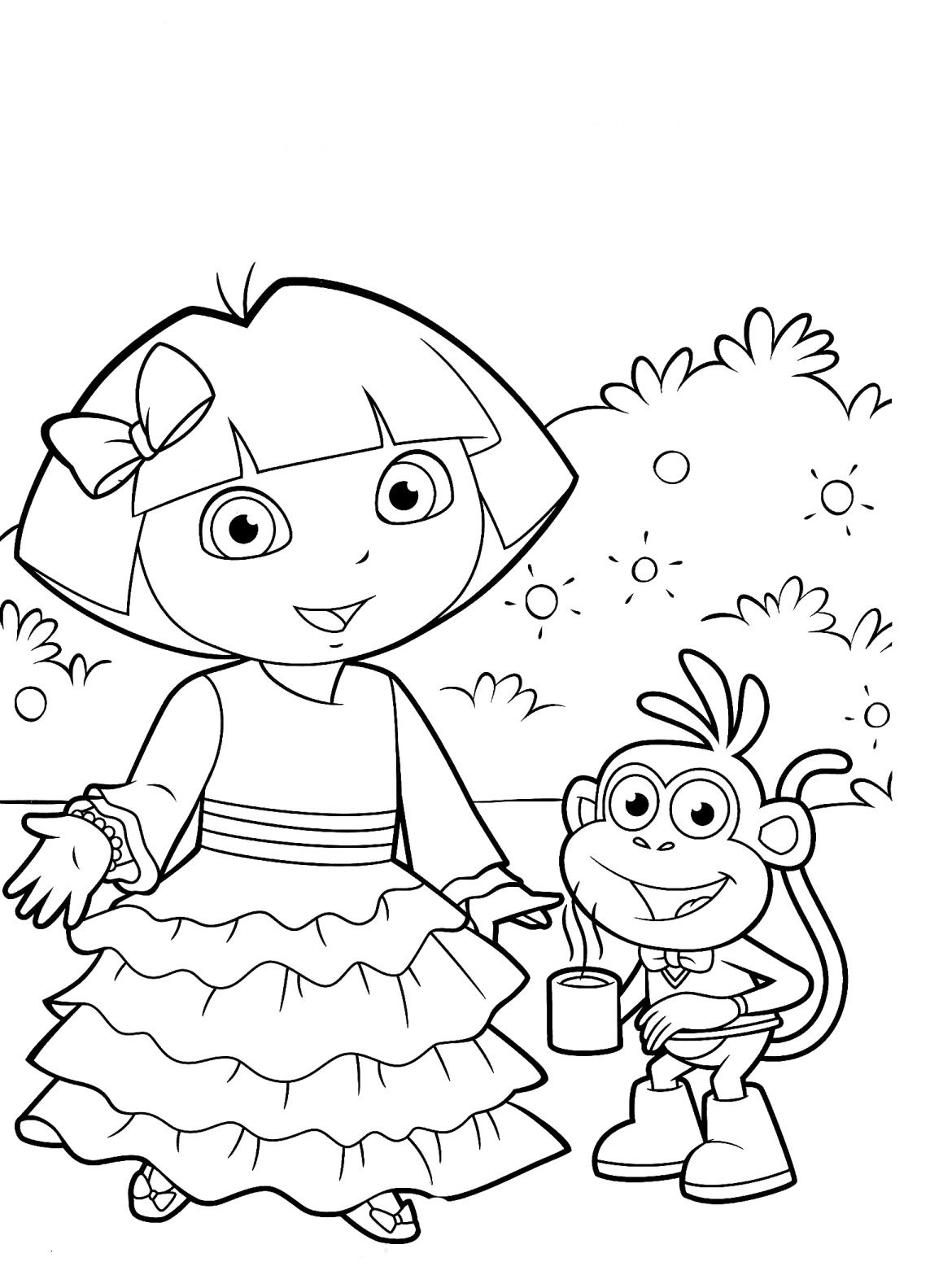 Dora la Exploradora para colorear – Club Peque Club Peque