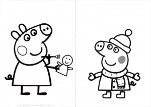 Peppa pig  DESCARGAR Y PINTAR