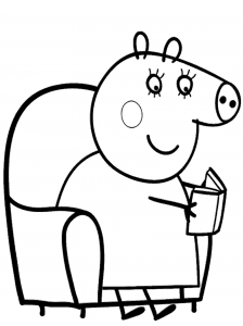 Peppa pig  descargar y colorear