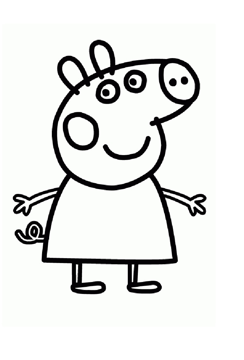 Peppa Pig para colorear – Club Peque Club Peque