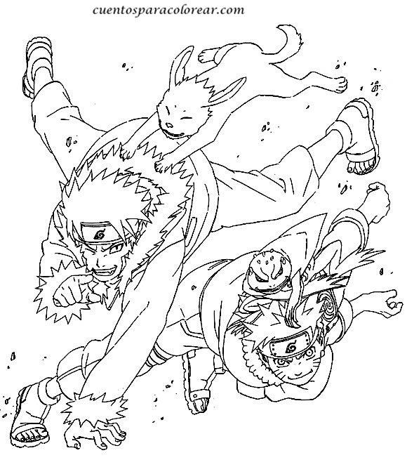 Naruto para colorear  Club Peque Club Peque